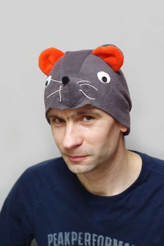 Adult mouse costume hat, adult Halloween costume, adult mouse hat ...