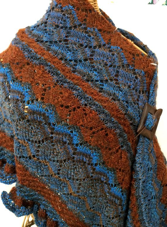 Gorgeous Wool and Mohair Shawl Hand-knit by kateinoregon ...