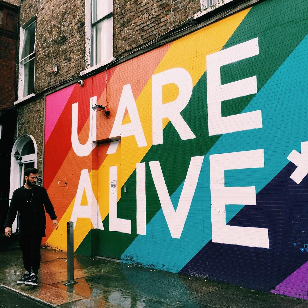 U ARE ALIVE, color, paint, wall, street art Murales