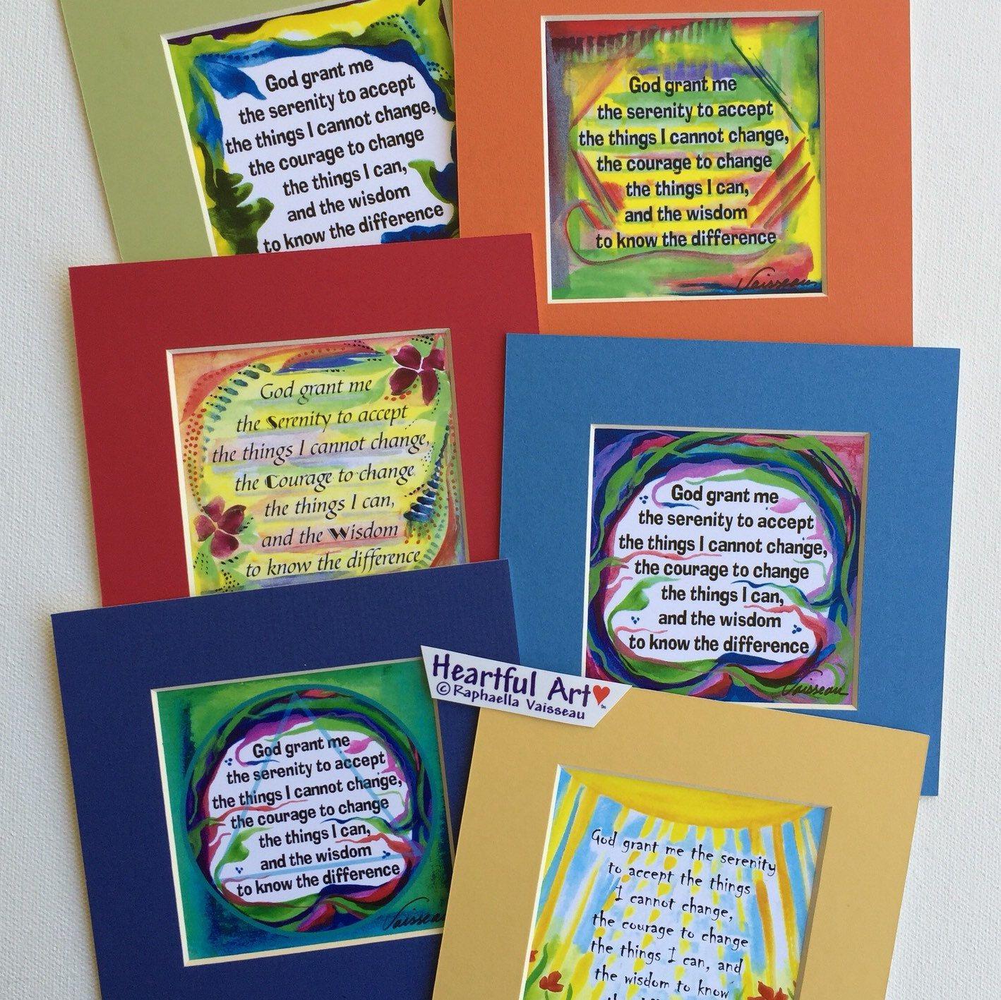 God Grant Me Serenity Prayer 5x5 Inspirational Sobriety