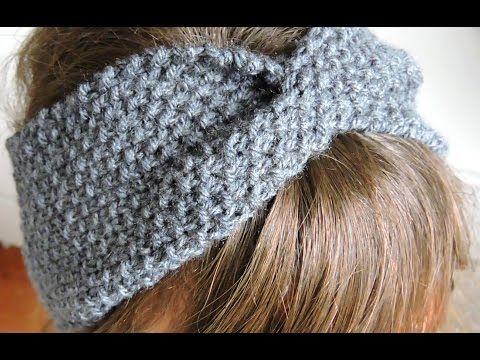 tricoter un bandeau facile en point de riz en tricotin circulaire youtube tricotin. Black Bedroom Furniture Sets. Home Design Ideas