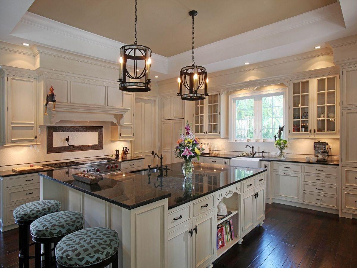 50 Inspiring Cream Colored Kitchen Cabinets Decor Ideas 33 Granite Countertops Kitchen Cream Colored Kitchen Cabinets Kitchen Cabinet Colors