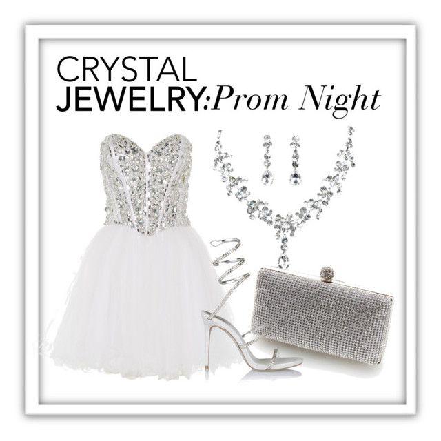 """Prom Night"" by mowsydneyp on Polyvore featuring Anoushka G, Lipsy, René Caovilla and crystaljewelry"