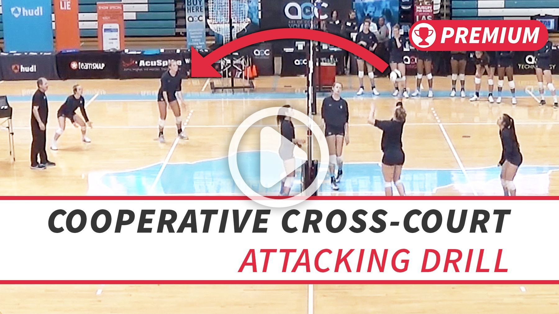 Cooperative Cross Court Attacking Drill Coaching Volleyball Drill Volleyball Drills