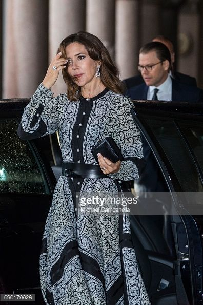 May 30, 2017--News Photo : Princess Mary of Denmark arrives Stockholm city...