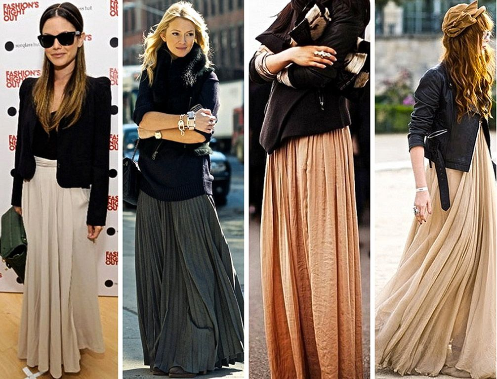 maxi skirt gonna lunga gonnellone con giacca inverno | Gonne