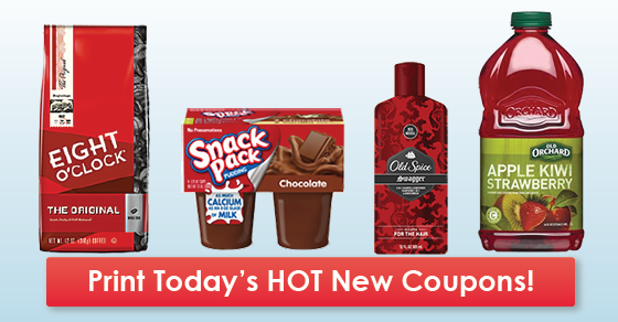New Coupons Eight O Clock Snack Pack Old Spice More Snack