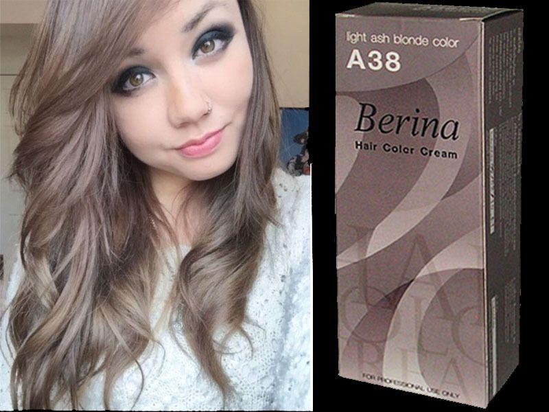 Berina Permanent A38 X 2 Boxs Color Hair Dye Cream Light Ash