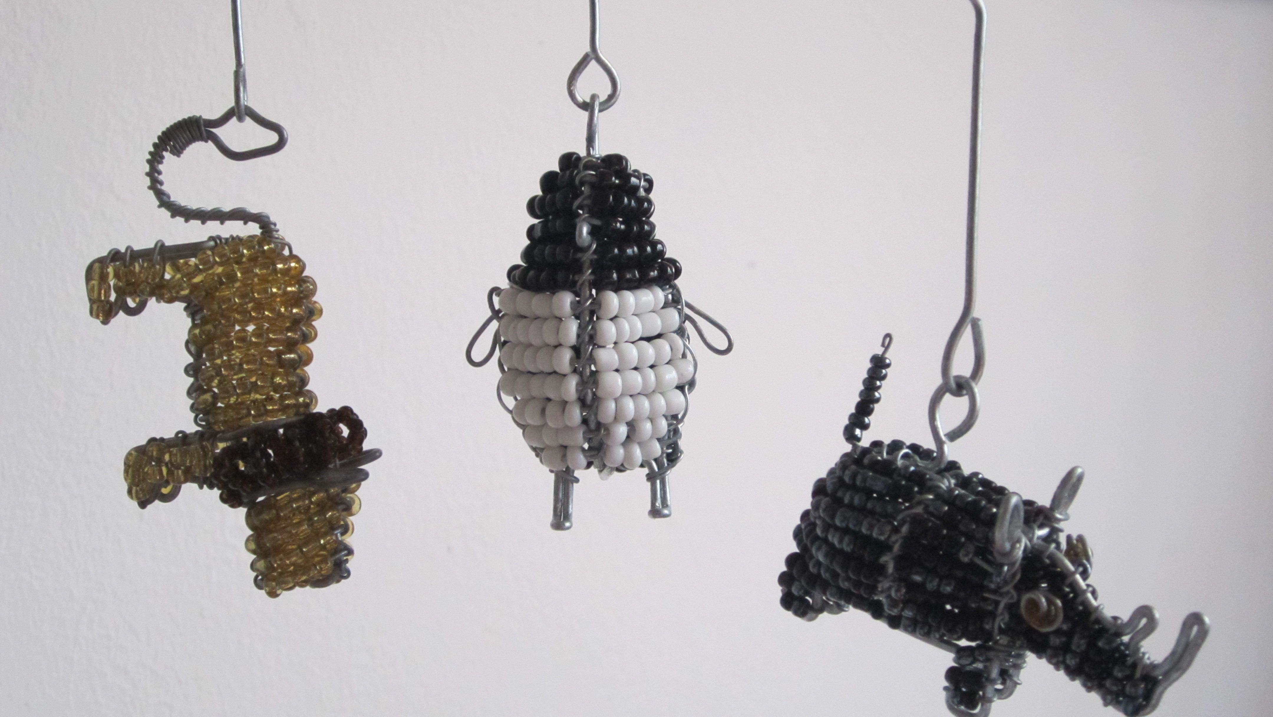 African Animal key rings. Hand crafted from recycled materials ...