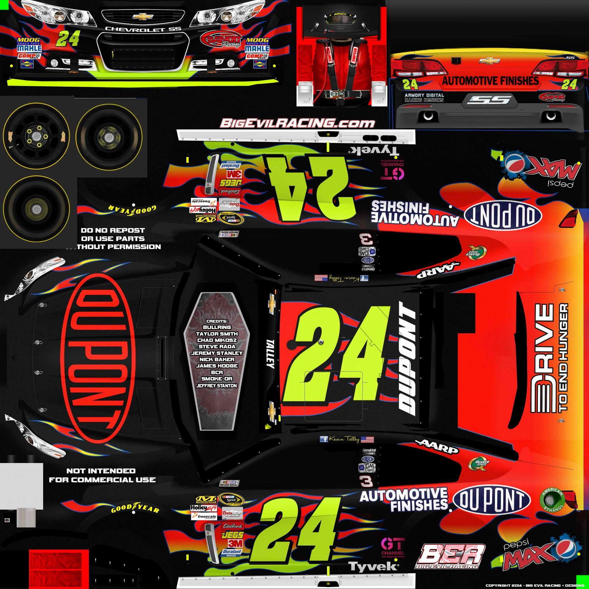 NASCAR Templates 2017 | Dupont Racing Logo 24 dupont ...