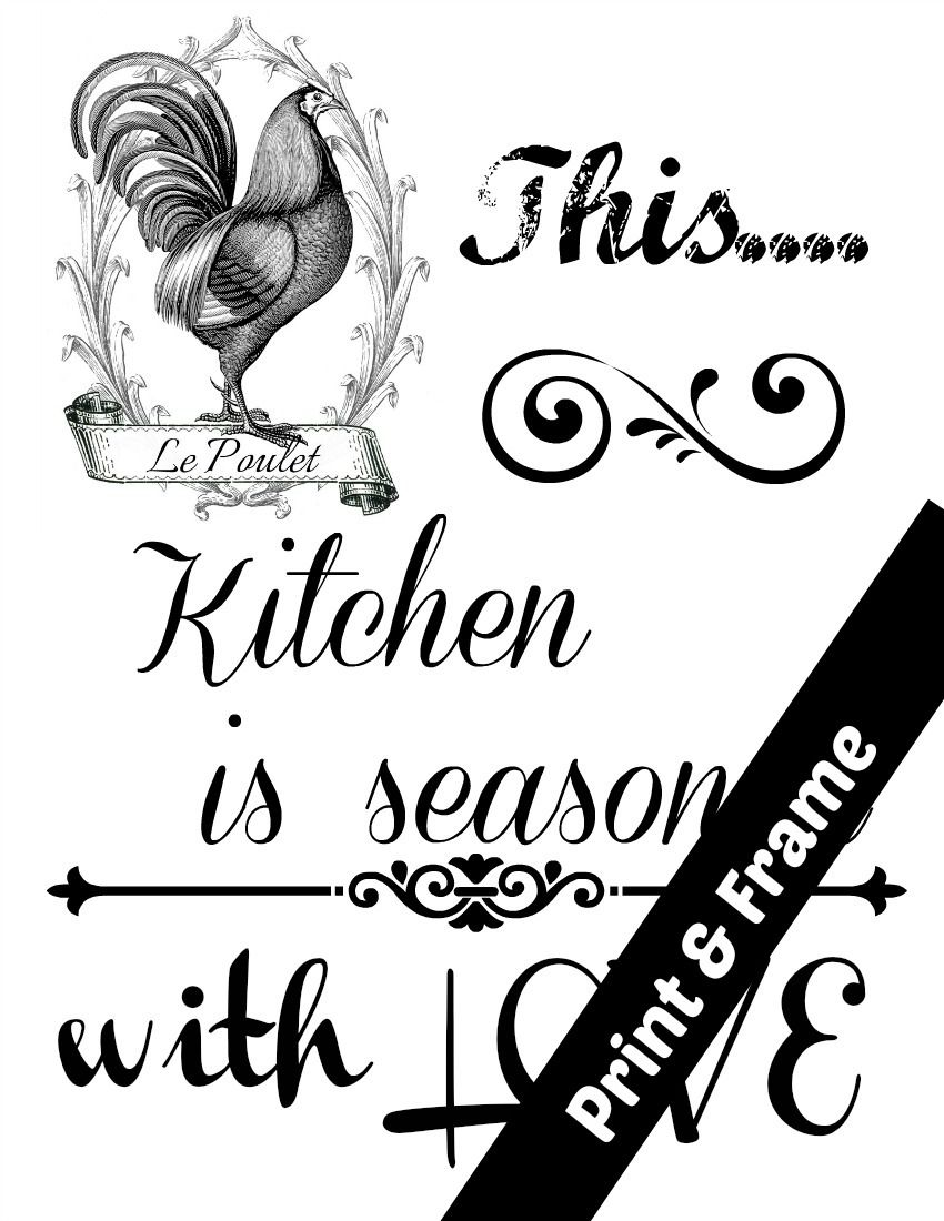 This Kitchen is seasoned with LOVE | Kitchens, Printing and Craft