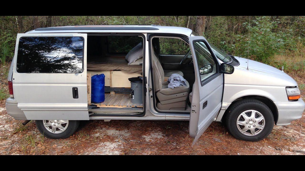 How I Converted A 1995 Dodge Caravan Into A Camper Van Youtube