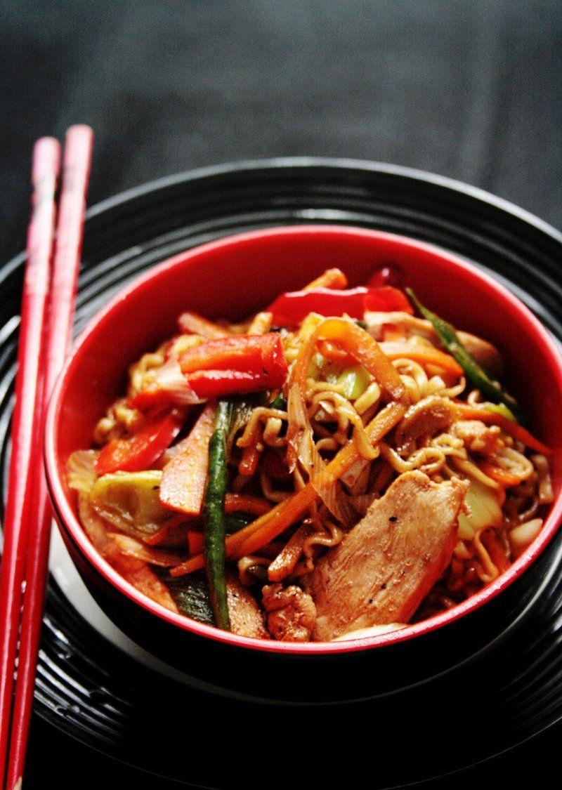 Bimbo asian chicken over vermicelli hot Wanna her