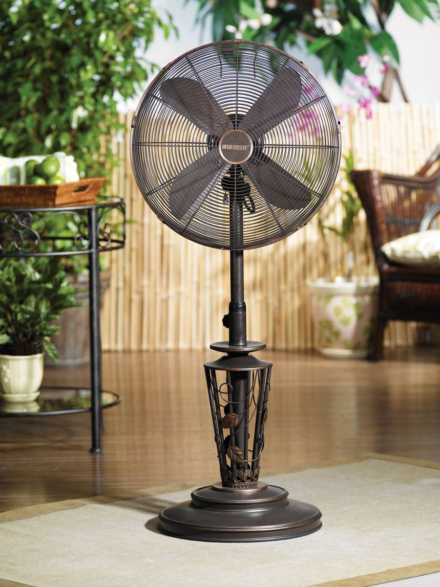 Pedestal Fan In Retro Style