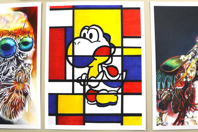 PIET MONDRIAN Art, YOSHI Nintendo Art Print, Yoshi Pop Art