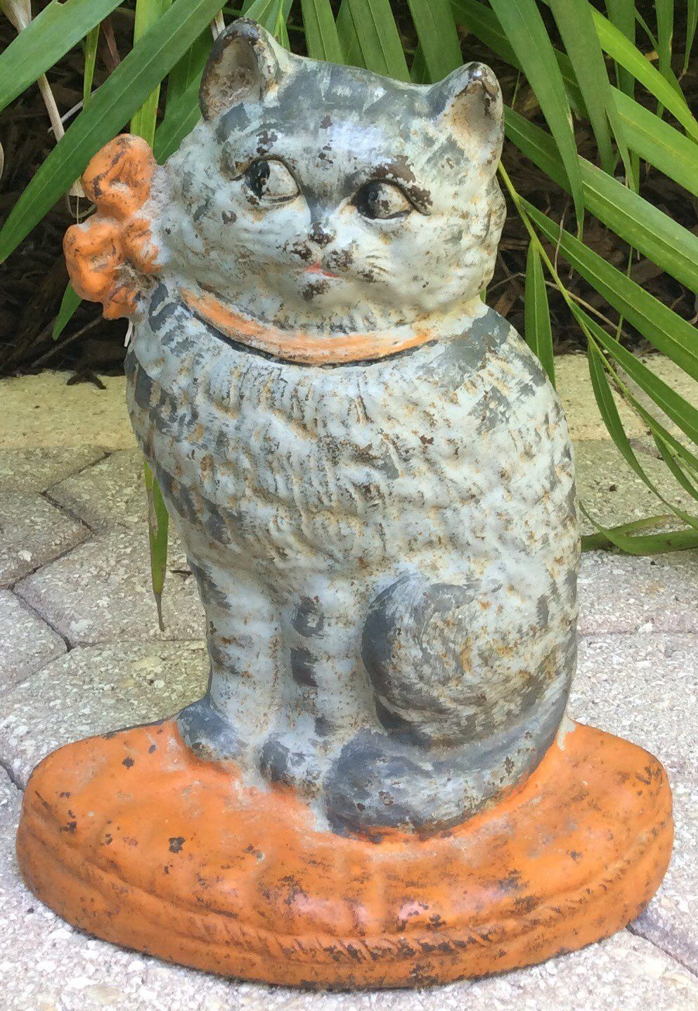 1920 Hubley Cast Iron Doorstop Gray Cat Mercari BUY