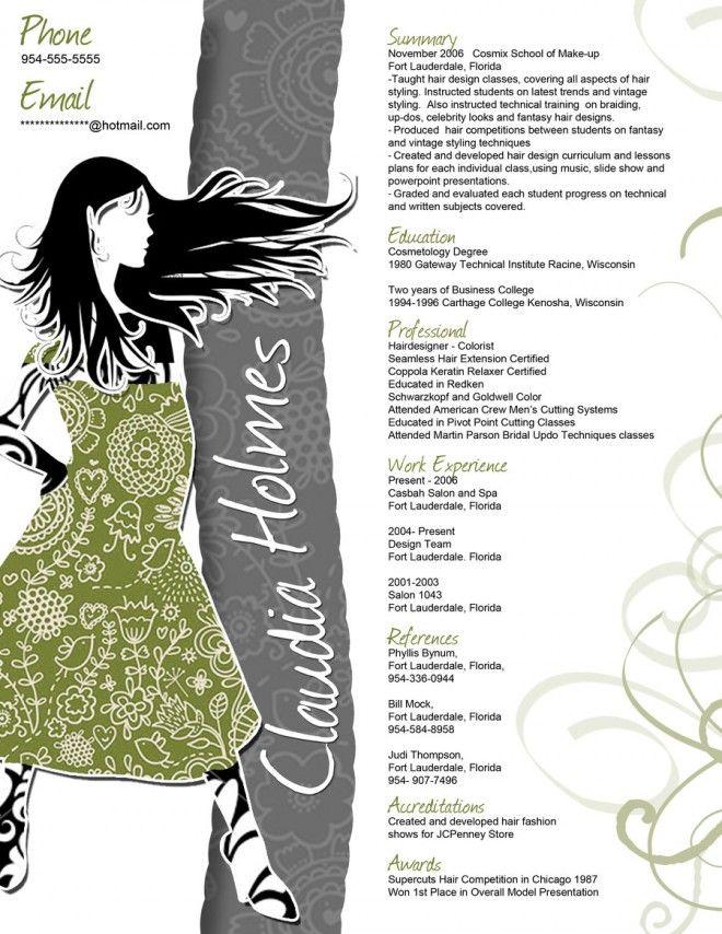 Feminine Resume Template Jolie Fashion Resume Resume Design Resume Template