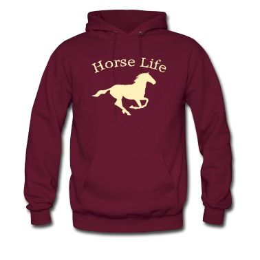 This Horse Life with running horse Hoodie is printed on a Hoodie and designed by kctsndecals. Available in many sizes and colours. Buy your own Hoodie with a Horse Life with running horse design at Spreadshirt, your custom t-shirt printing platform!
