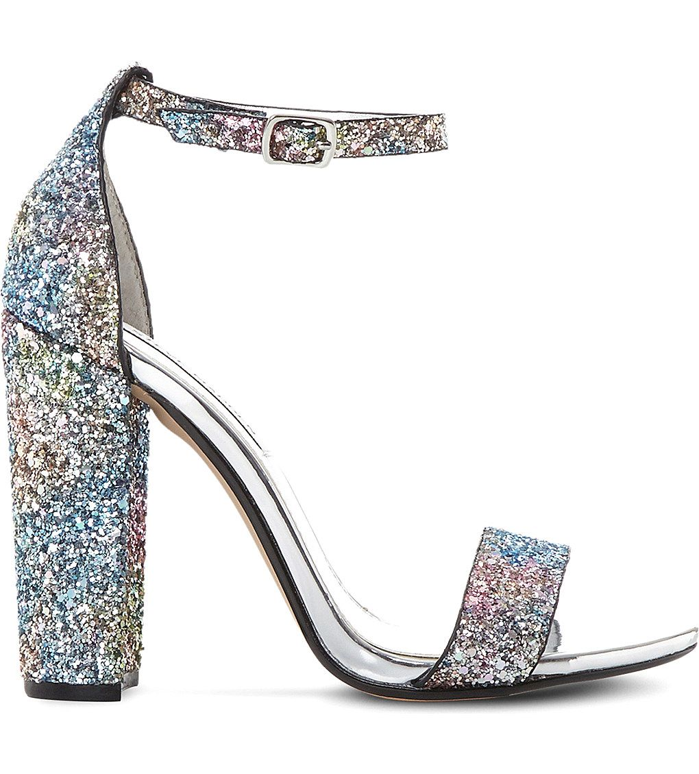 824b27bfcd7 SHOP STEVE MADDEN Carrson glitter sandals Throw these glittery shoes on with  a simple LBD and be instantly party ready.
