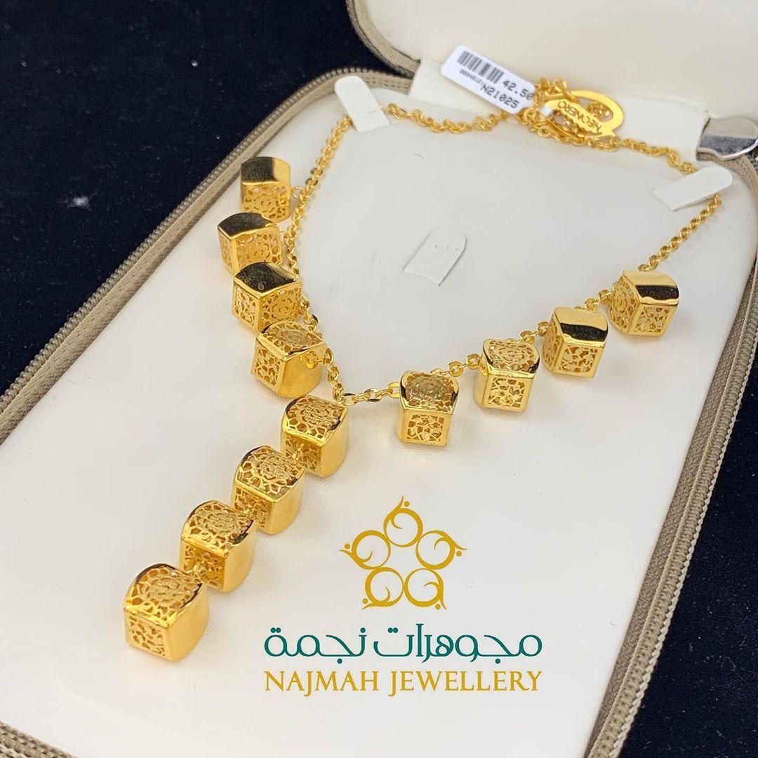 عقد المكعبات تصميم فخم وانيق من الذهب الصافي عيار ٢١ مقدمه من مجوهرات نجمة السعر التقريبي 5 000 ريال زورونا في مجوهرات نجمة في سوق الذهب