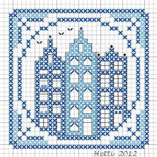 Leuk Om Te Gebruiken Voor Het Haken Van Een Granny In Blauw Wit