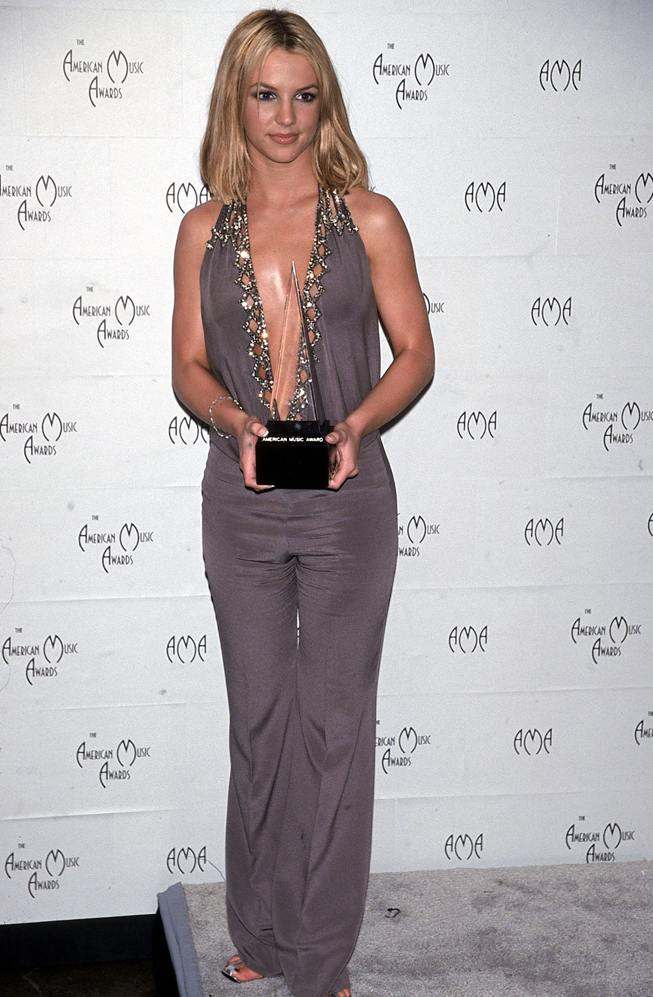 The ascent of the jumpsuit on the red carpet really took flight in the early aughts with clubby, costumey designs. To wit: This picture of Britney may have been taken at the American Music Awards, but we wouldn't be surprised if she wore something similar on-stage.
