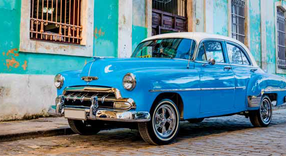 voiture bleue la havane cuba cara bes vintage blue phot print malerifabrikken deco. Black Bedroom Furniture Sets. Home Design Ideas