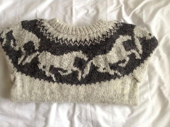 Ready to ship Icelandic sweater adult sweater jumper