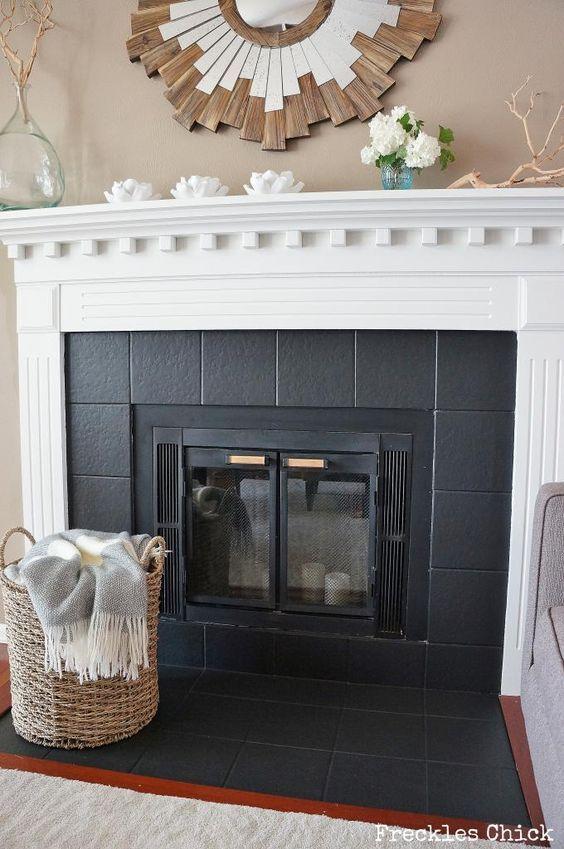 Fireplace Tile Mini Facelift With Paint Diyfireplacetile