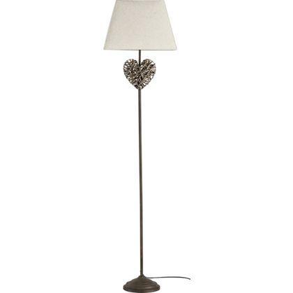Wicker Heart Floor Lamp Natural At Homebase Be Inspired