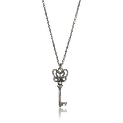"""Avindy Jewelry """"Wish Charms"""" Diamond Love Key Pendant Necklace - designer shoes, handbags, jewelry, watches, and fashion accessories 