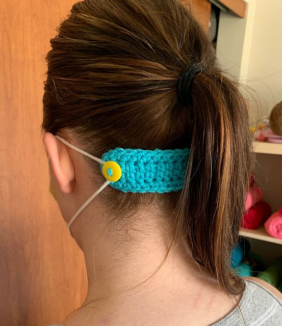 Mask Mates Free Crochet Pattern- Super Quick Cotton Stash Buster