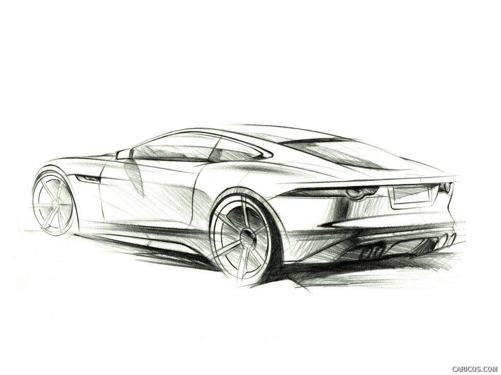 2015 Jaguar F Type Coupe Sketch Anything Jaguar Les Coupes Et