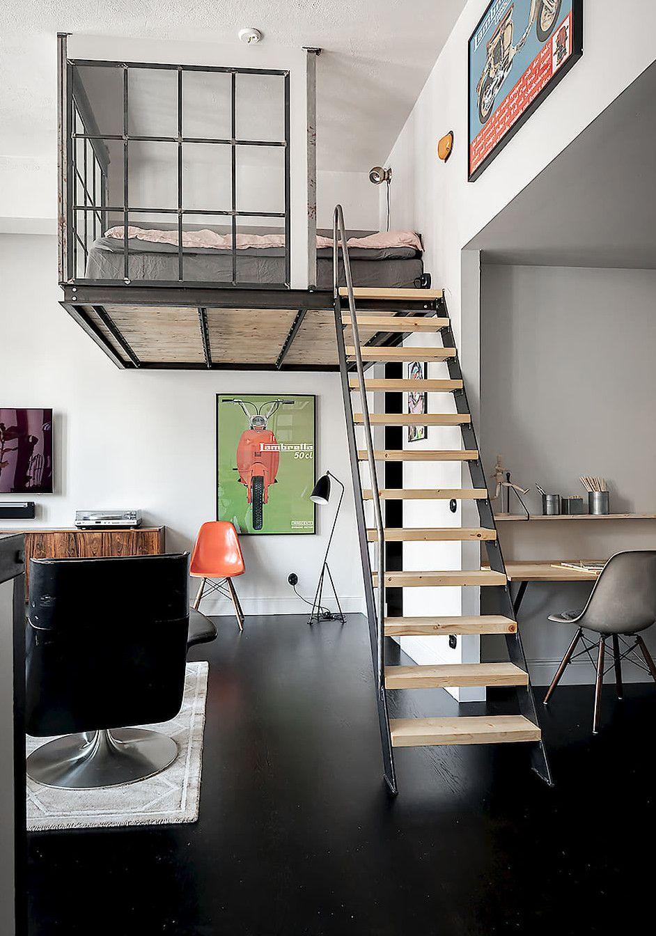 Photo of Un loft atypique avec une chambre vitrée dans une ancienne fabrique de pianos – PLANETE DECO a homes world