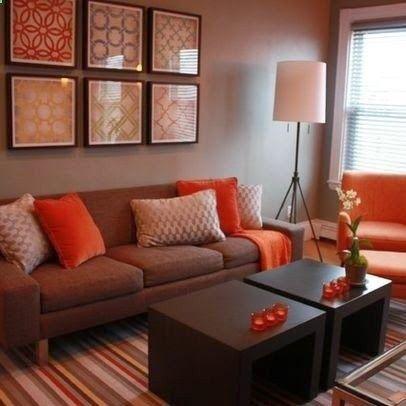 Apartment Living Room Design Ideas On A Budget Beauteous Decoração Sala Detalhes Laranja  Pesquisa Google  Home Decor Design Decoration