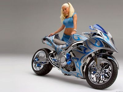 Luusama Motorcycle And Helmet Blog News: Suzuki Hayabusa Naked Motorcycle  Bike Girl Biker