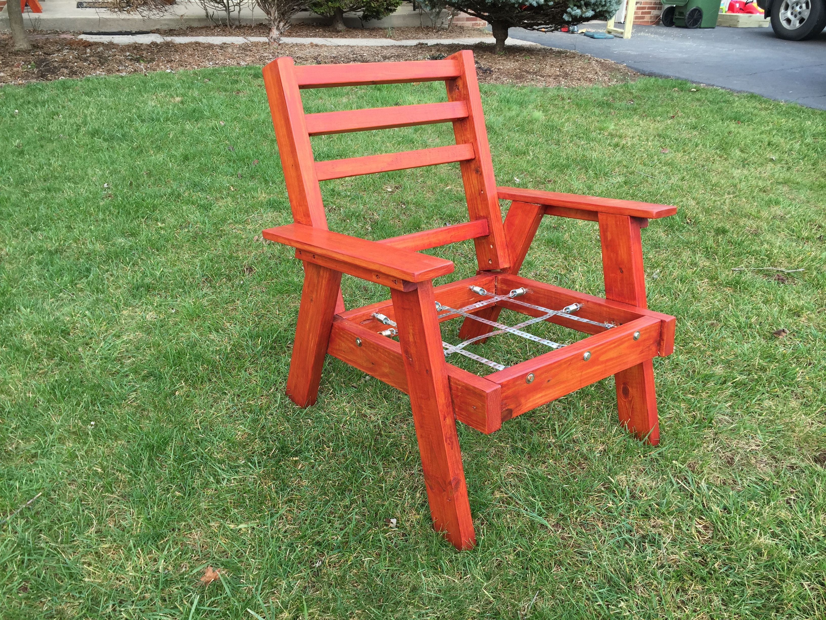 Vintage redwood style patio furniture