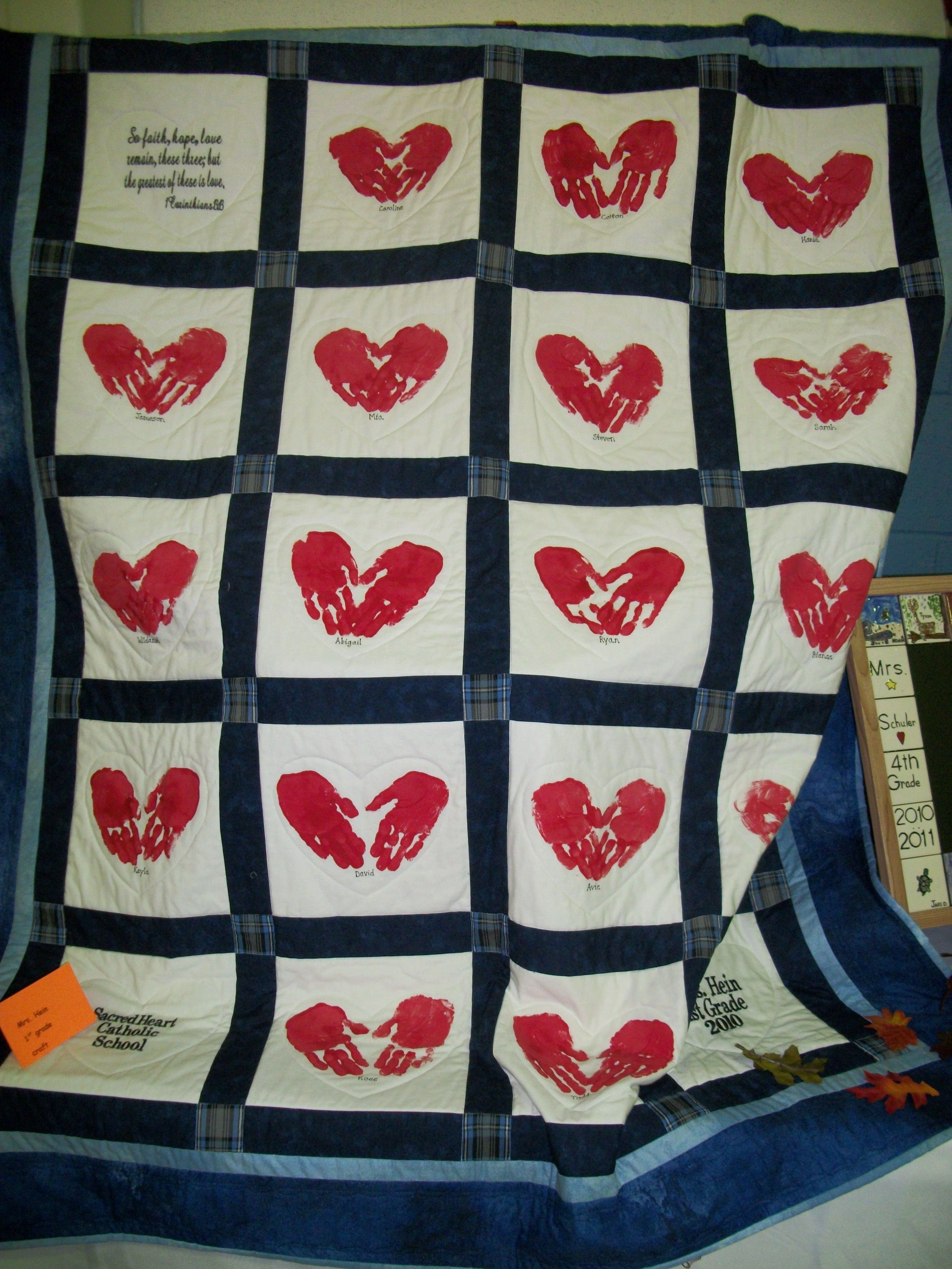 Classroom Quilt Ideas ~ First grade quilt schoolauction school auction