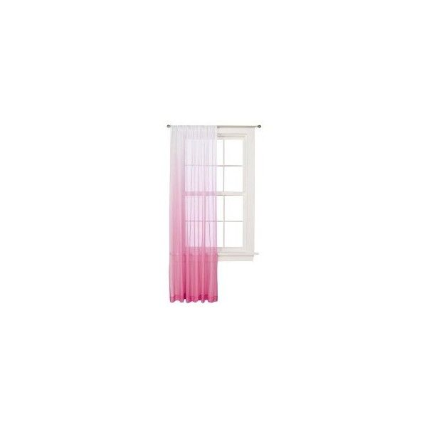 WINDOW SHEER XL PINK OMBRE 54X84 : Target ($50) ❤ liked on Polyvore featuring home, home decor, window treatments, curtains, windows, furniture, interior, window curtains, sheer window coverings and window sheer curtains