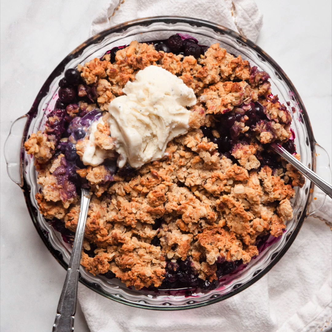 Healthy Blueberry Cobbler | Erin Lives Whole