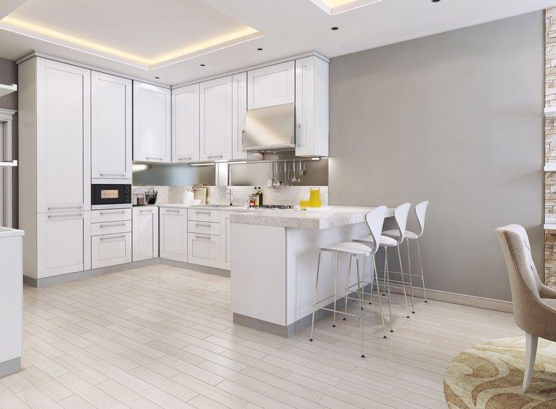 Cocina de estilo neocl sico y abierta al sal n - Salon cocina ...