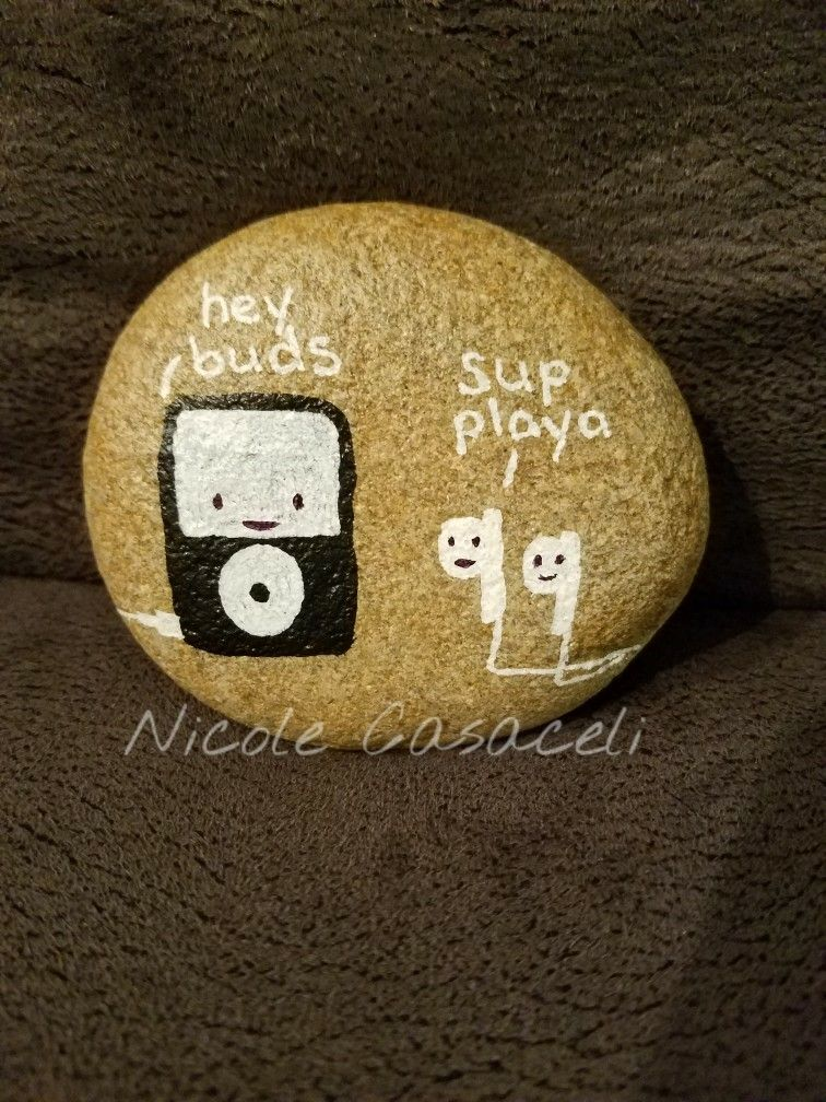 Funny Pun Painted Rock Rock Painting Ideas Easy Rock Painting Patterns Painted Garden