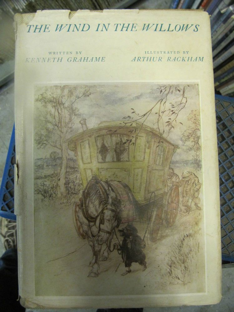 SCARCE THE WIND IN THE WILLOWS 1954 ARTHUR RACKHAM PLATES DJ!!!