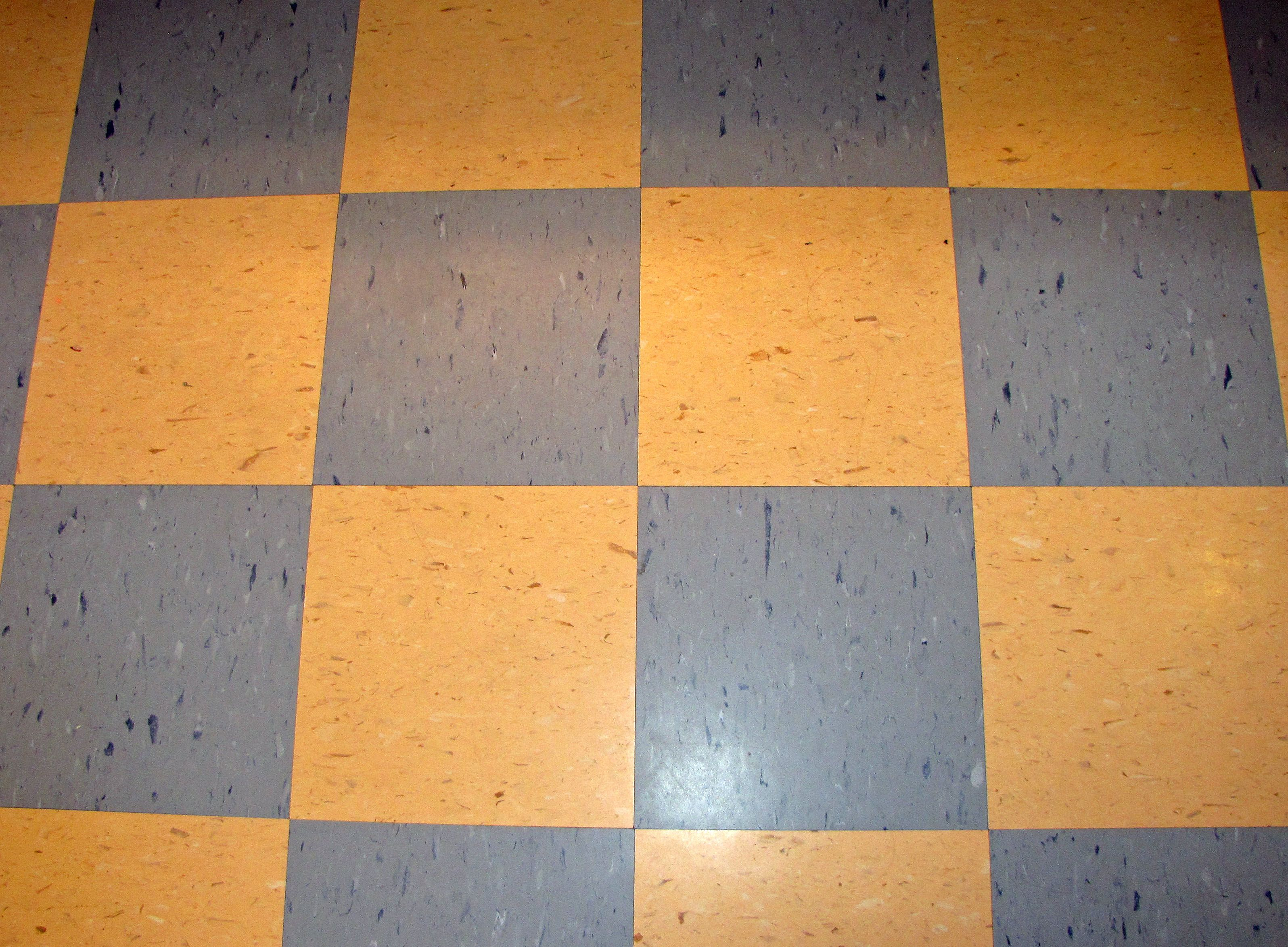 Blue And White Checkered Linoleum Floor Tile Blue