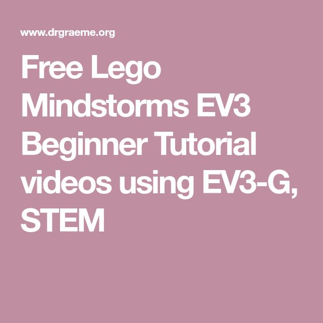 Free robotics tutorial fun with beginner lego mindstorms ev3.