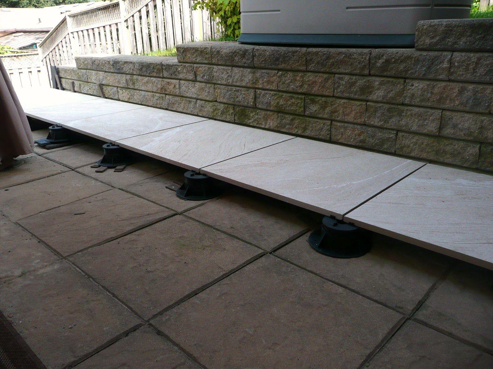 2Thick Stonewave Warm 24x24 exterior porcelain tile. Floating ...