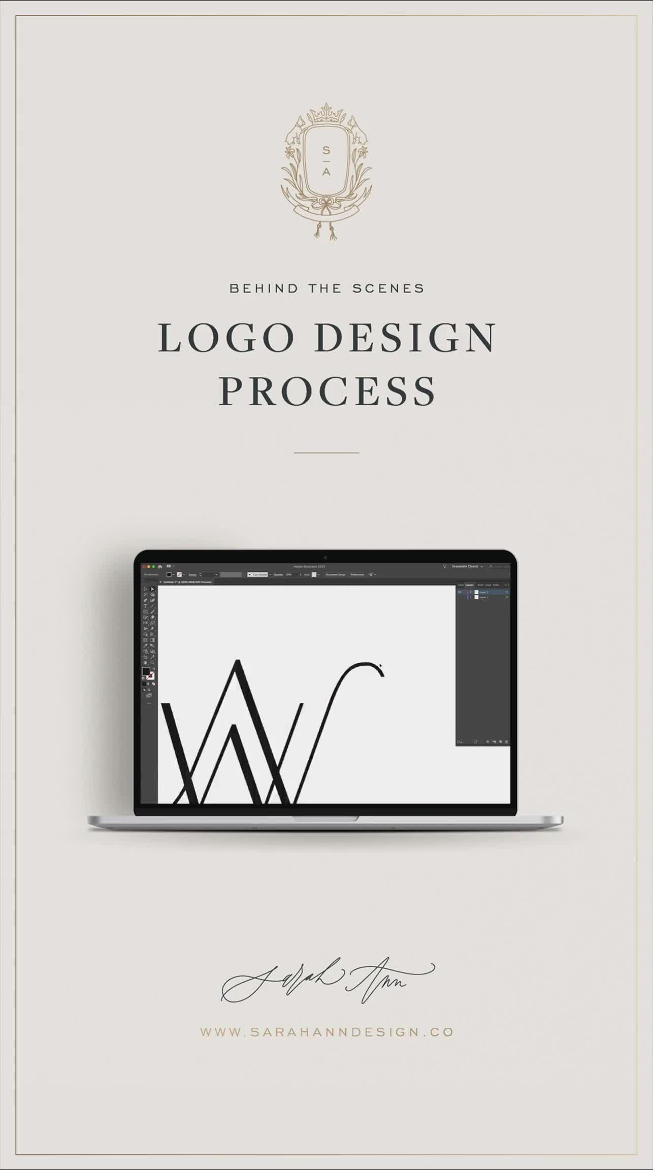 Interested in learning more about my logo design process? You can get a peek into the screen of a professional brand designer right here! #logodesign #logodesigner #branddesigner