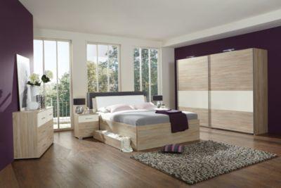 Schlafzimmer Wenge ~ Schlafzimmer mit bett cm weiss matt lackiert wenge