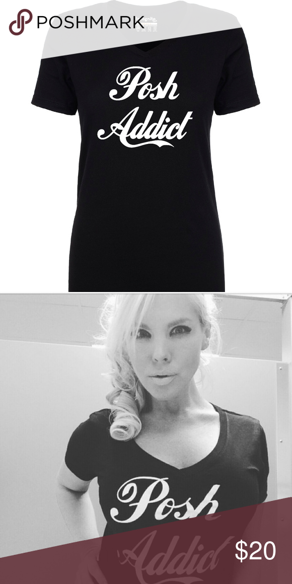 Incognito Tees Exckusive Posh Addict V Neck Boutique With Images Tees