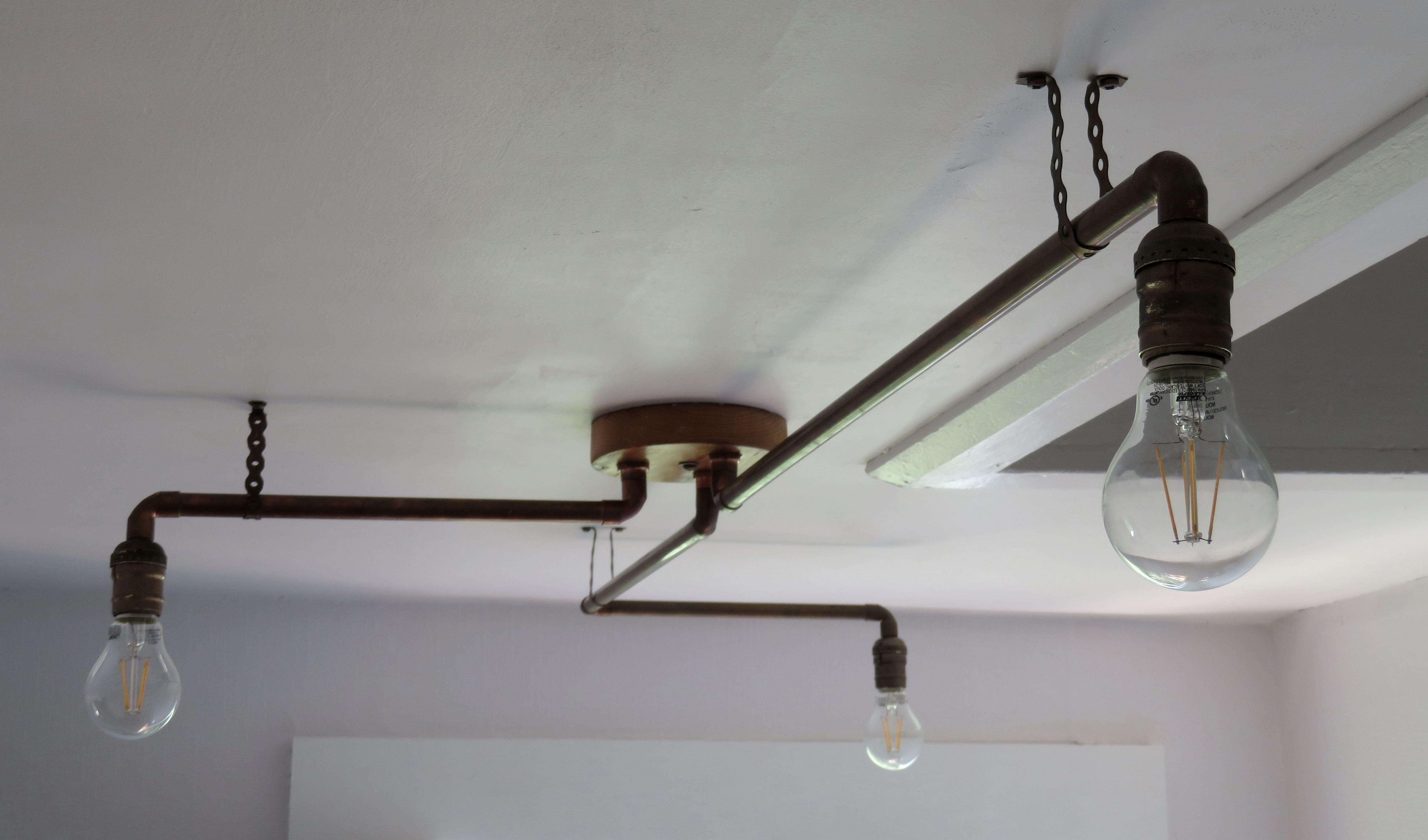 Light fixture decor ideas diy pipe light fixture diy pipe light